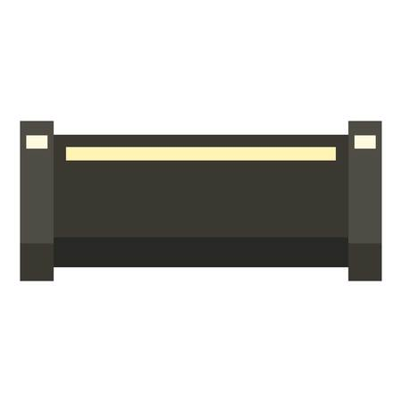 steam iron: Black pipe icon, flat style