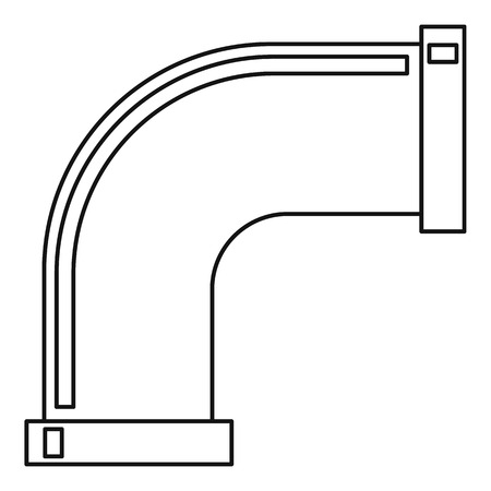 steam iron: Pipe icon, outline style