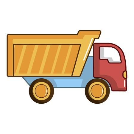 Toy truck icon, cartoon style Illustration