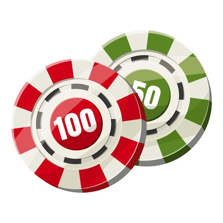 Poker chips nominal one hundred and fifty icon