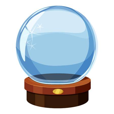 Magic ball icon, cartoon style