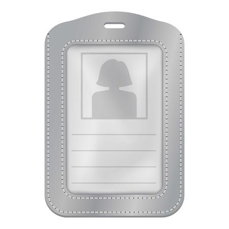 Identification plastic card mockup realistic style Illustration