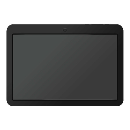 Modern portable touch pad device mockup Illustration