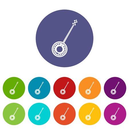Banjo set icons