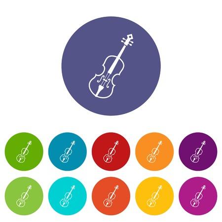 fiddlestick: Cello set icons