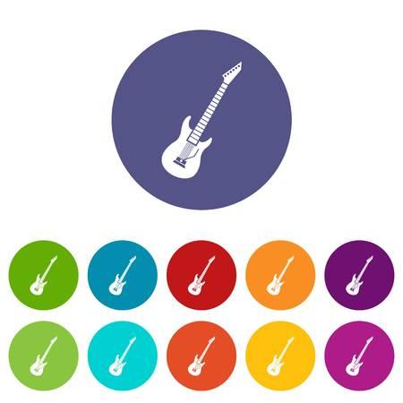 rosewood: Electric guitar set icons