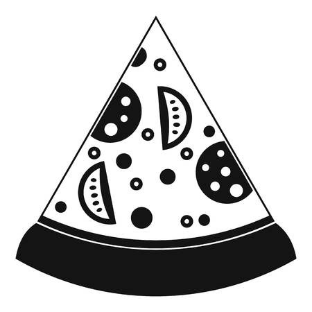Slice of pizza icon, simple style