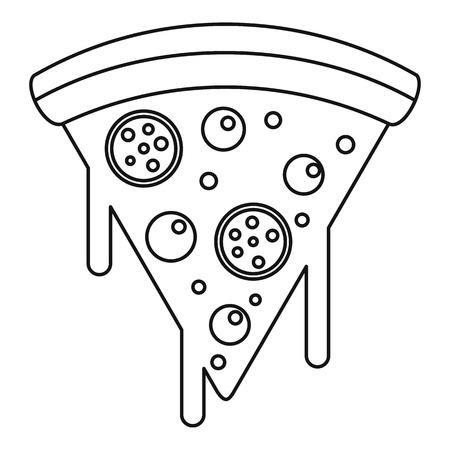 Slice of pizza with melted cheese icon,