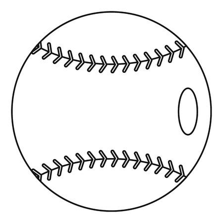 Baseball icon. Outline illustration of baseball vector icon for web