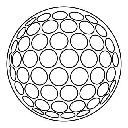 Golfball-Symbol. Umreißen Sie Illustration der Golfballvektorikone für Netz
