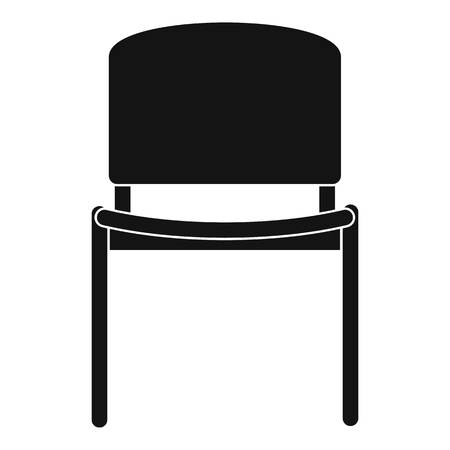 stool: Black office chair icon, simple style
