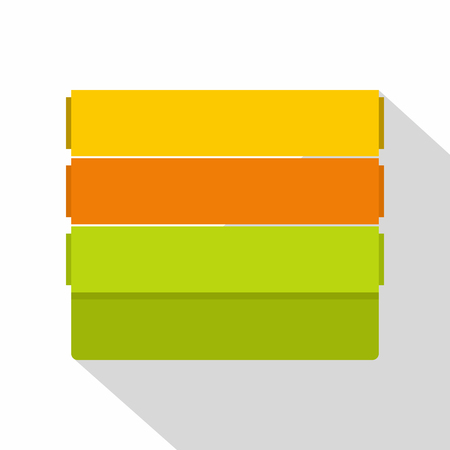 Colorful wallpapers icon, flat style