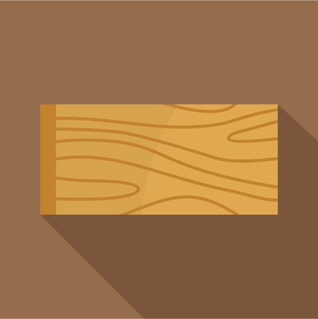 Wooden plank icon, flat style Illustration