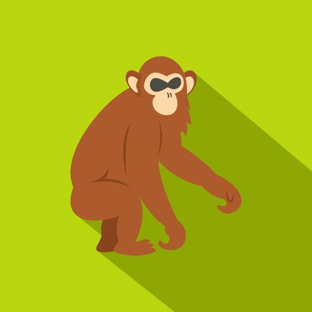 genus: Dusky leaf monkey icon, flat style