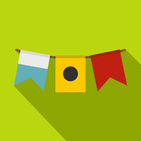 Colorful flags icon, flat style