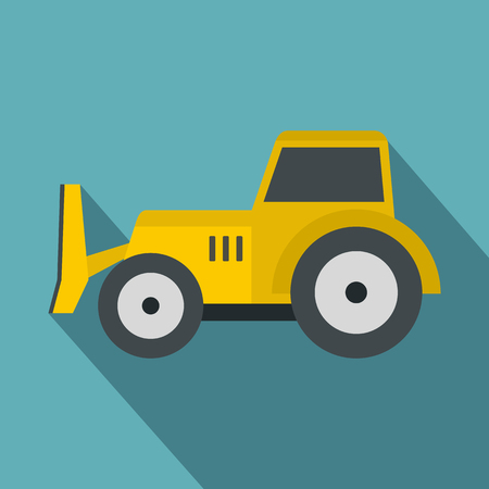 skid steer loader: Skid steer loader icon, flat style