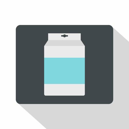 Box of milk icon, flat style