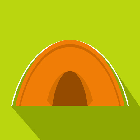 Tent icon, flat style Illustration