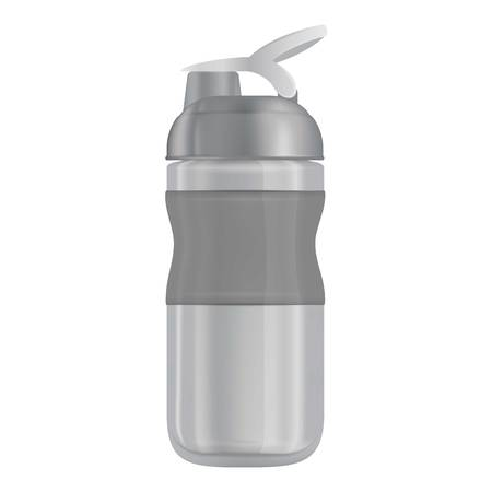 extreme close up: Reusable water bottle i mockup. Realistic illustration of reusable water bottle i vector mockup for web Illustration