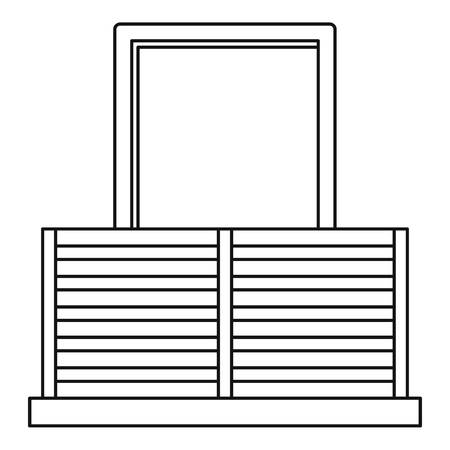 exterior architectural details: Balcony icon, outline style