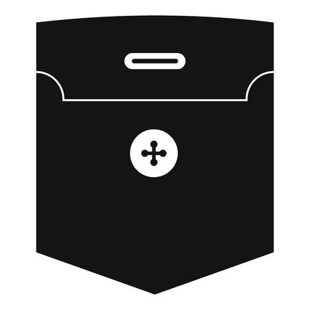 Fashion pocket for shirt icon, simple style Illustration