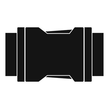 Side release buckle icon, simple style Illustration