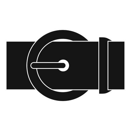 waistband: Circle belt buckle icon, simple style