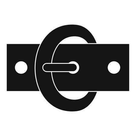waistband: Buckle belt icon, simple style Illustration