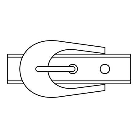 waistband: Narrow belt with buckle icon, outline style