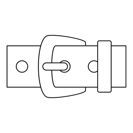 waistband: Leather belt icon, outline style