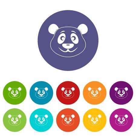 Chinese lantern icons set in circle isolated flat vector illustration Illustration