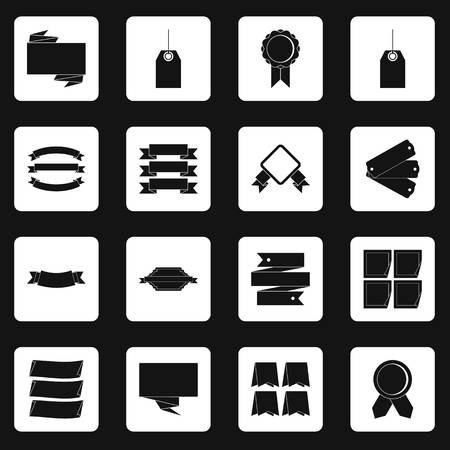discount banner: Different colorful labels icons set squares vector