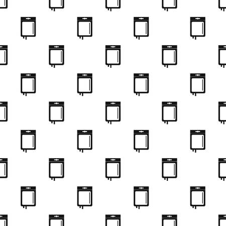 Blood transfusion pattern seamless in simple style vector illustration