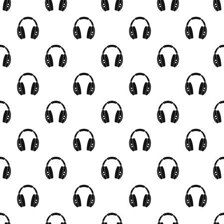 grey background texture: Headphones pattern vector Illustration