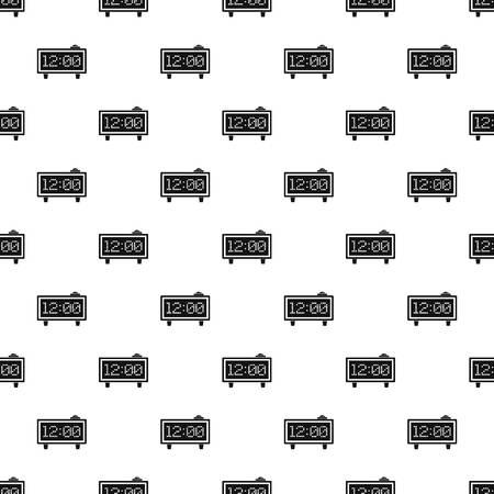 Alarm clock pattern vector Ilustrace