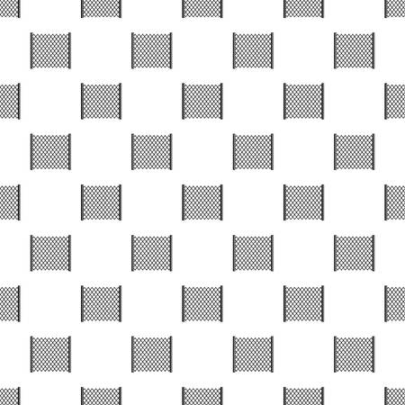 perforated: Perforated gate pattern vector