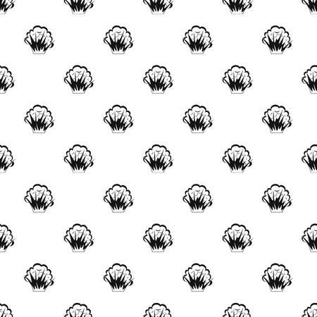 flamme et fumée motif dans le style simple illustration vectorielle Vecteurs