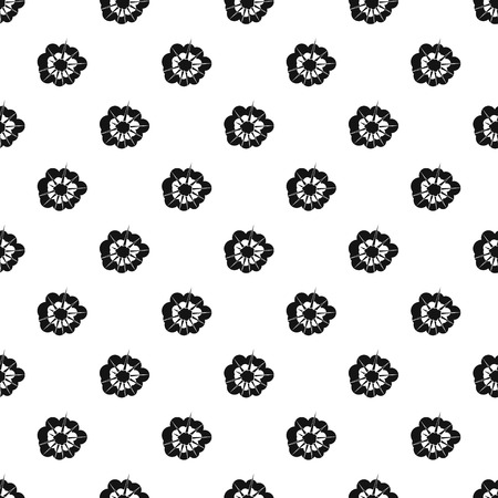 blasting: Cloudy explosion pattern seamless in simple style vector illustration Illustration