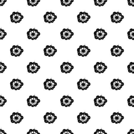 Motif d'explosion nuageux sans soudure dans l'illustration vectorielle de style simple