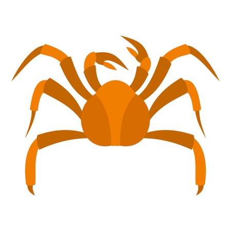 Big crab icon flat isolated on white background vector illustration