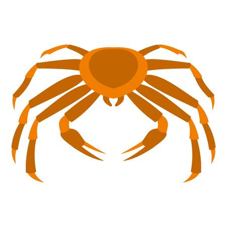 Crab sea animal icon flat isolated on white background vector illustration