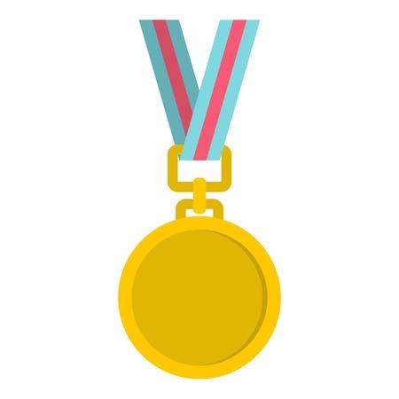 medal icon flat isolated on white background vector illustration Illustration