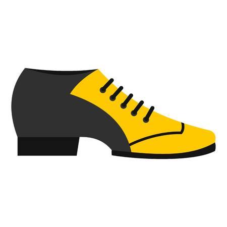 Male tango shoe icon flat isolated on white background vector illustration