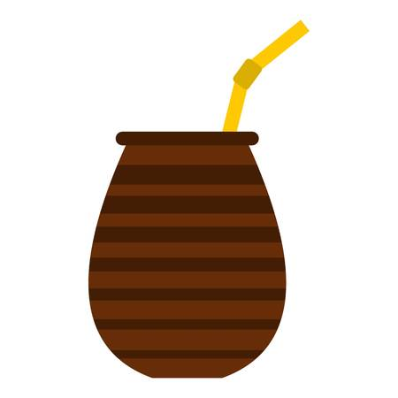 Chimarrao for mate or terere icon flat isolated on white background vector illustration