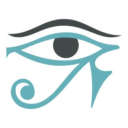 an amulet: Eye of Horus icon isolated
