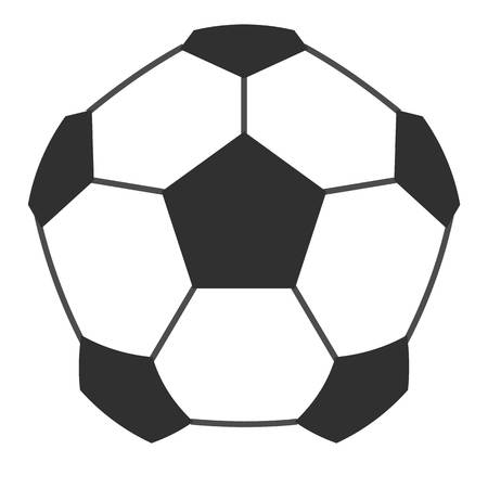flat foot: Leather soccer ball icon flat isolated on white background vector illustration