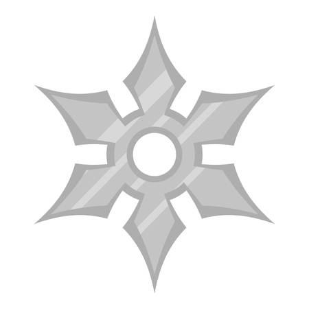 Shuriken weapon icon flat isolated on white background vector illustration