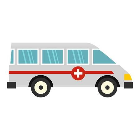 Ambulance car icon isolated