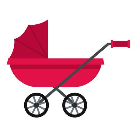 mother and baby: Pram icon isolated
