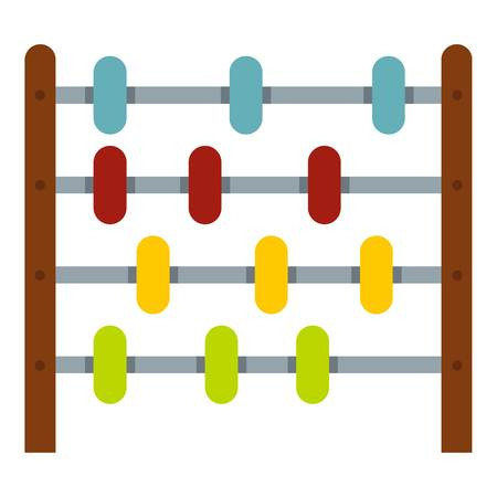 Children abacus icon isolated